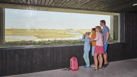 Vogels spotten vanuit de inkijknatuurmuur © Provincie West-Vlaanderen