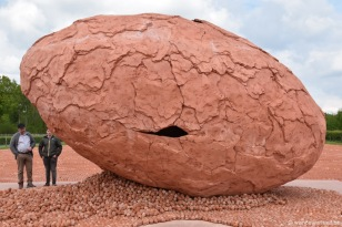 land-art-installatie van kunstenaar Koen Vanmechelen